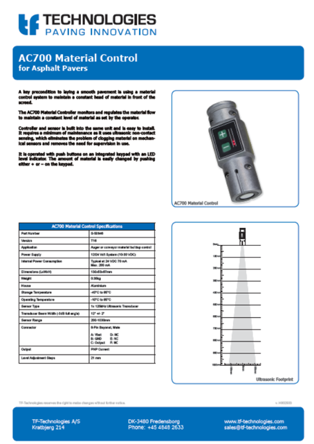 AC700 Material Controller T16 - TF-Technologies