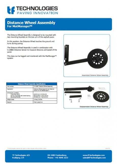 Distance Wheel Assembly