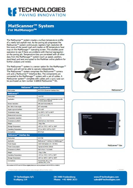 MatScanner™ Kit for MatManager™