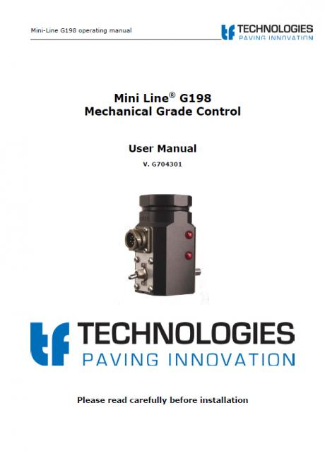Mini-Line G198 Mechanical Grade Control
